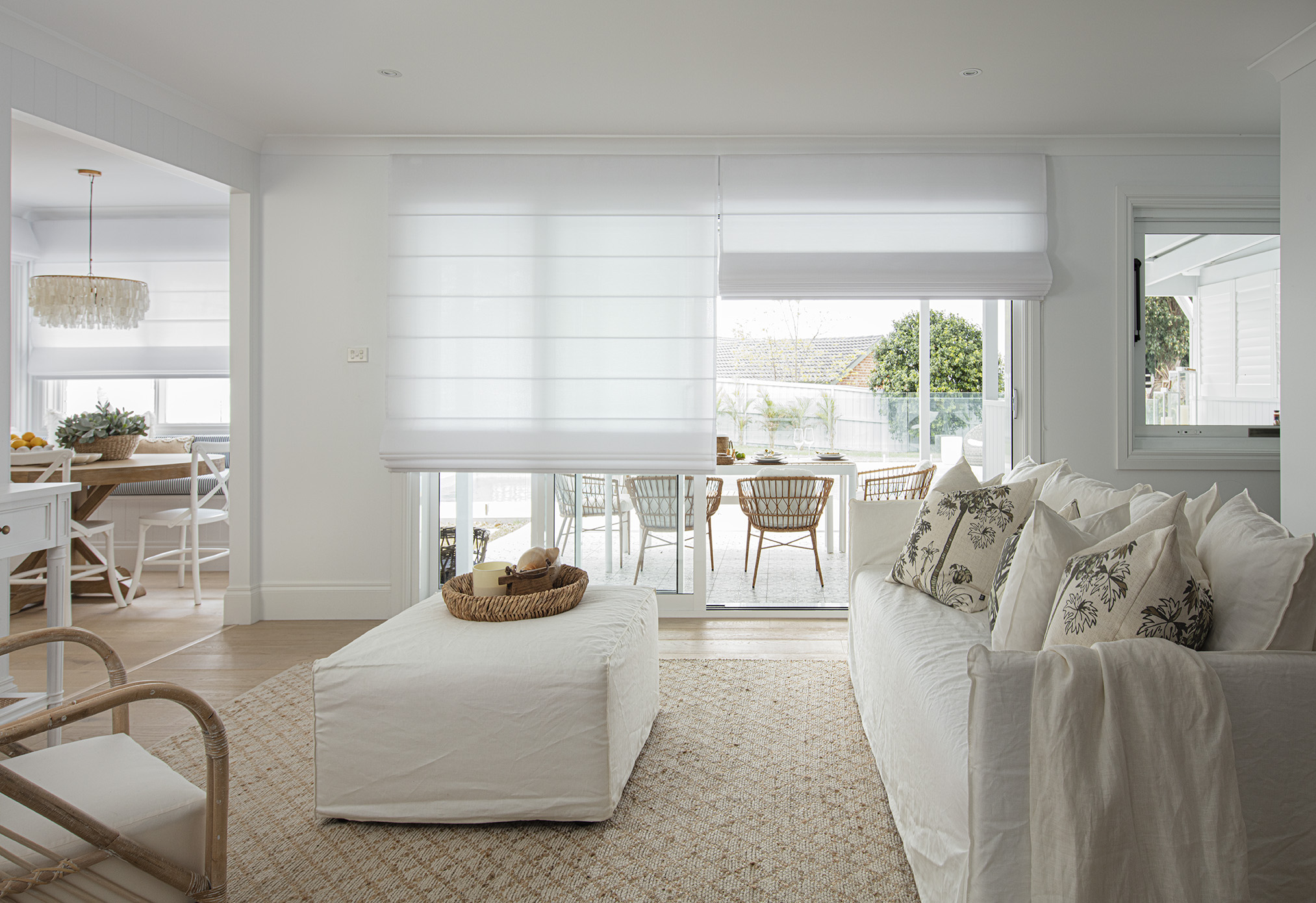 Translucent Roman Blinds in Living Area.jpg
